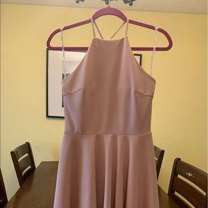 Pink lace back dress